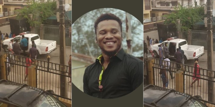 VIDEO: Security Operatives Allegedly Abduct Activist, Adene in Lagos Residence