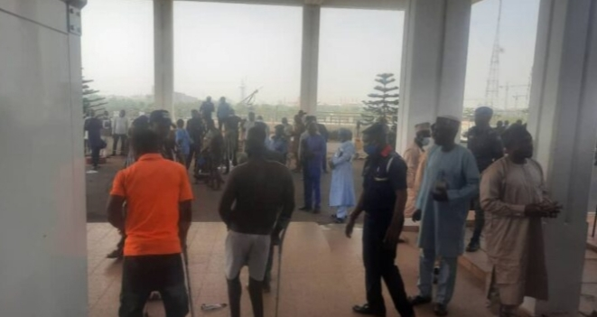 Persons with disabilities storm national assembly, overpower security