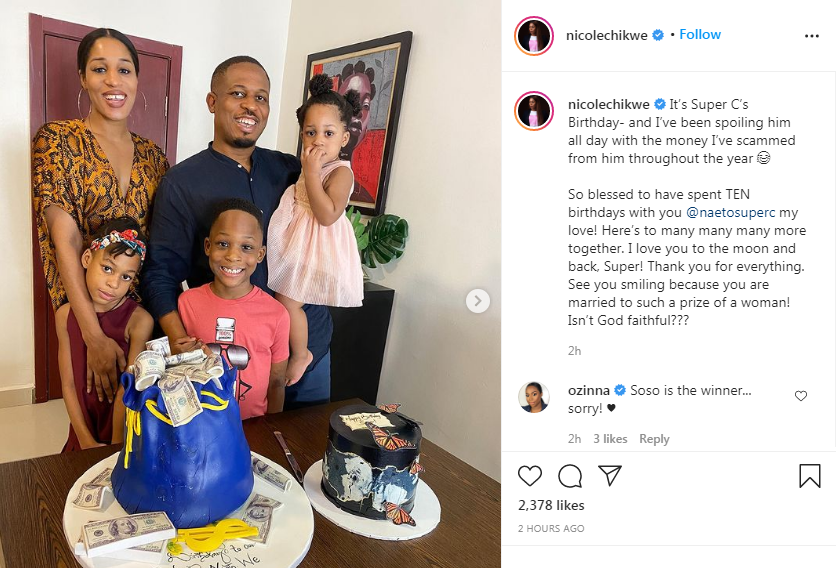 Rapper, NaetoC celebrates birthday with wife and kids (photos)