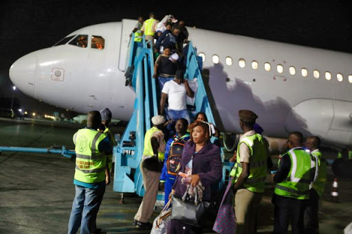 arrival at airport in Nigeria