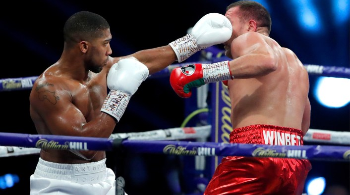 PHOTOS: Anthony Joshua 'demolishes' Pulev to set up potential Tyson Fury fight