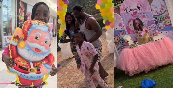 Mercy Johnson and hubby celebrate their daughter, Purity on her 8th birthday (Photos/Video)