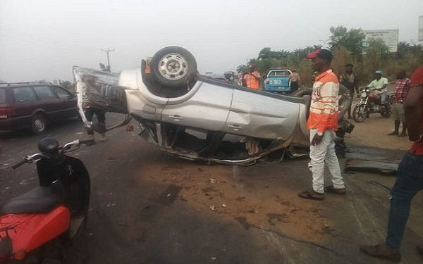 Baby, Three Others Escape As Vehicle Crashes In Anambra
