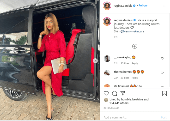Regina Daniels shows off her latest luxury in new photos