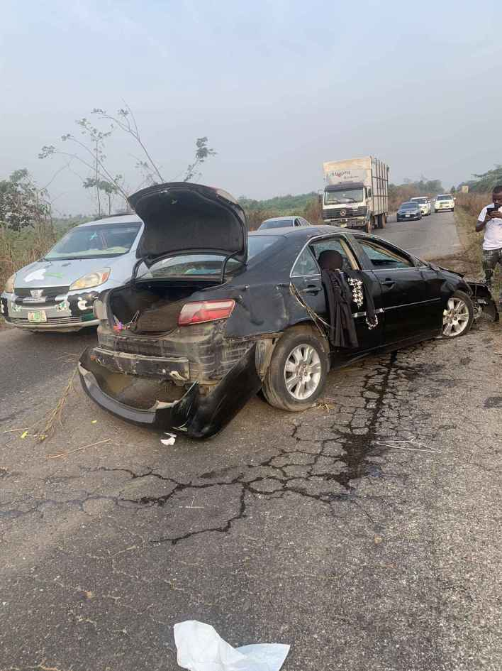 Wizkid's First Babymama, Shola Ogudu Involved in Terrible Car Accident (Photos)