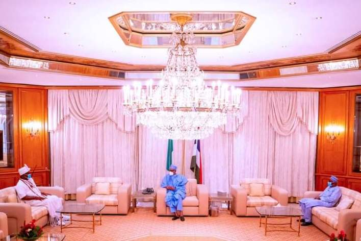 Buhari receives Ooni of Ife in Aso Rock (PHOTOS)