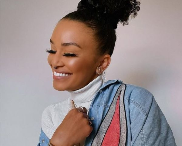 Pearl Thusi receives cute face shield from Pearl Modiadie