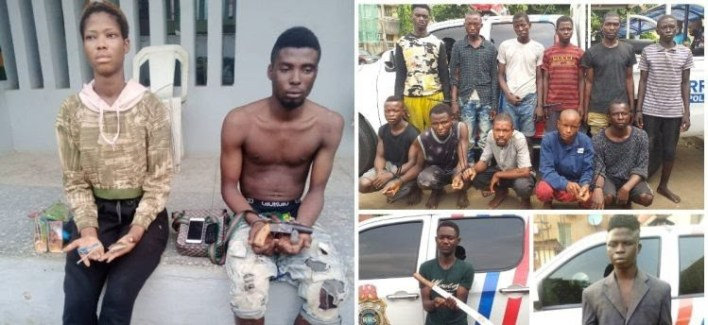 Police arrest 15 robbery suspects, including a female in Lagos