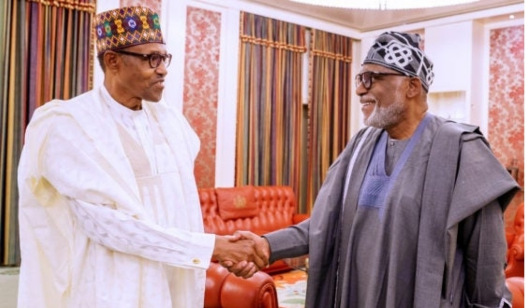 JUST IN: Buhari, Akeredolu, Makinde meet in Aso Rock