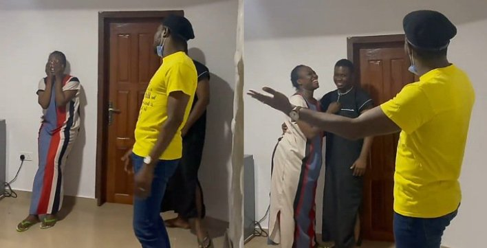Adorable moment Timi Dakolo surprised a fan who just wedded (Video)