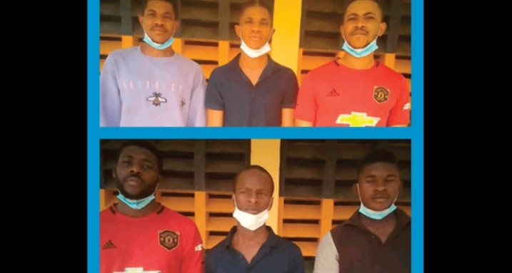 PHOTO: Police arrest six suspected kidnappers in Abuja