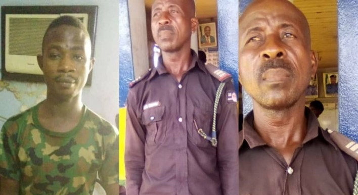 Police arrest two men for impersonating serving police inspector and military man