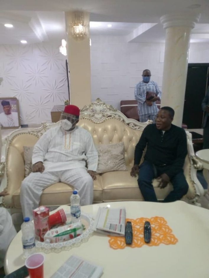 Fani-Kayode meets Sunday Igboho in Ibadan (PHOTOS)