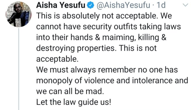 Aisha Yesufu blasts Nnamdi Kanu for calling her a 'talkative lunatic'