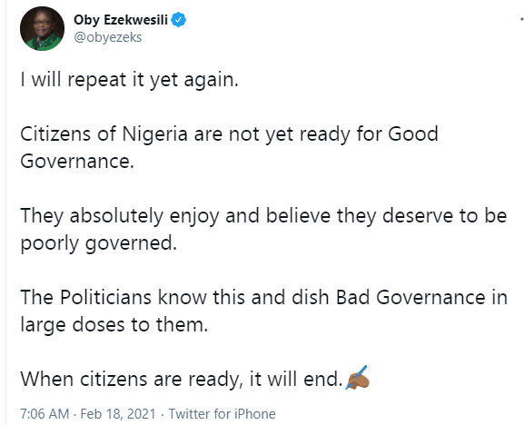 Oby Ezekwesili: Nigerians are not yet ready for good governance