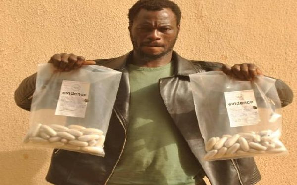 PHOTO: NDLEA officials arrest transborder drug trafficker with N1bn worth of cocaine in Sokoto