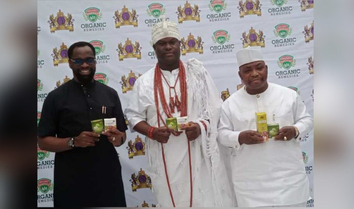 Ooni unveils local Covid-19 remedy approved by NAFDAC (PHOTOS)