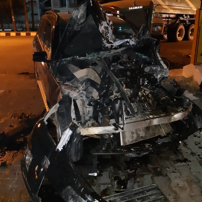 PHOTOS: Davido's former PA, Idris Aloma survives ghastly accident