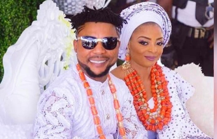 Oritsefemi's wife, calls out lady who came into her matrimonial home to sleep with husband while she was away