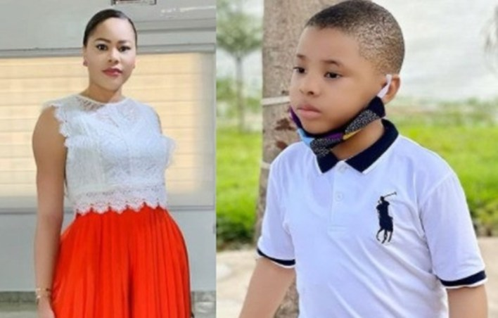 You will wipe my tears – FFK's estranged wife, Precious tells first son, Lotanna, as he turns 5