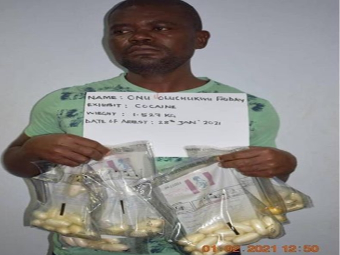 Businessman successfully excretes 83 wraps of cocaine at Abuja airports