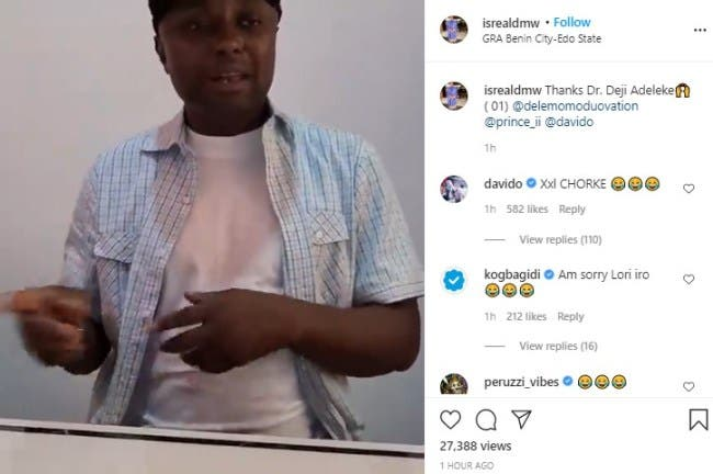 VIDEO: Davido's aide Isreal tenders public apology to DJ Cuppy