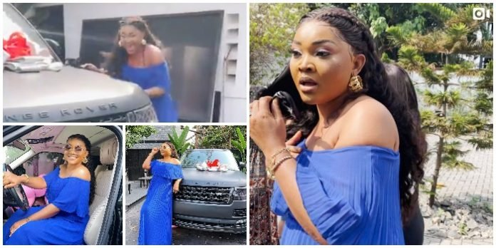 VIDEO: Mercy Aigbe gets Range Rover for birthday