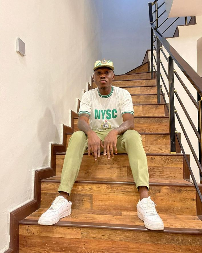 Singer, Zlatan Ibile shares pictures in NYSC uniform