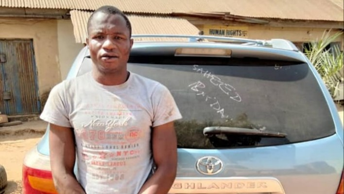 PHOTOS: Police arrests notorious car snatcher in Nasarawa