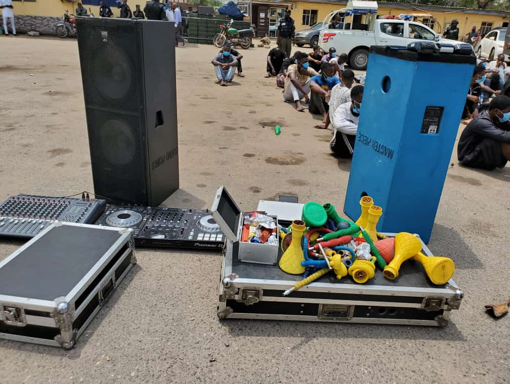 Police arrest and parade 113 COVID-19 violators in Lagos