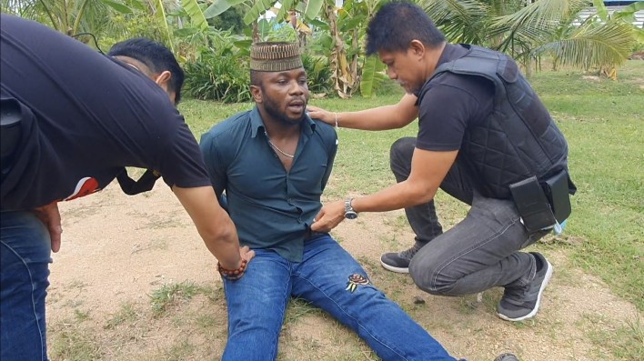 PHOTOS: Nigerian man and his girlfriend arrested for cocaine possession in Thailand