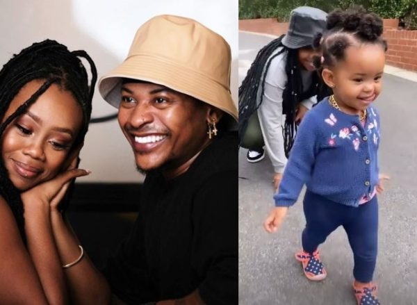 Bontle and Priddy's daughter rocks gold chain for the 1st time (Video)