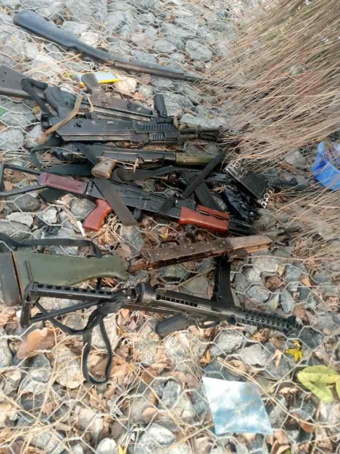 PHOTOS: Security Operatives Kill 4 Suspected Pirates In Uyo, Recover Firearms, Speed Boat, Others