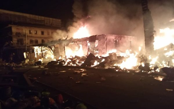 Goods worth millions destroyed as fire engulfs Onitsha plastic market