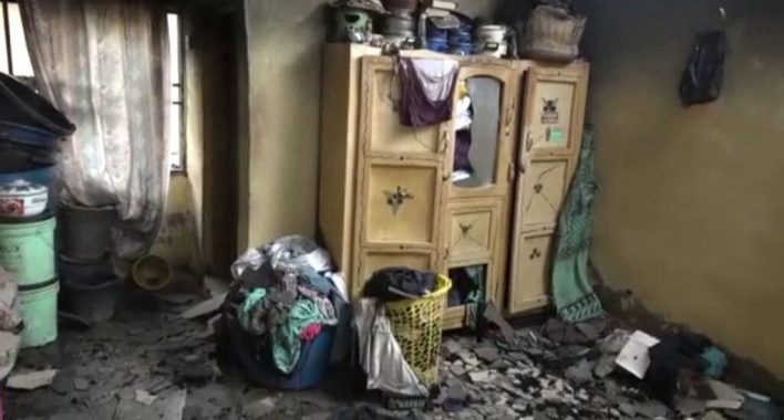 VIDEO: Mother, 4 children die in fire caused by candlelight in Kwara state