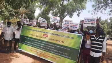 Group protest in Abuja, calls for immediate removal of Zenith MD, Nduka Onyeagwu