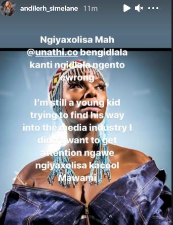 Unathi exposes the face of her cyberbully