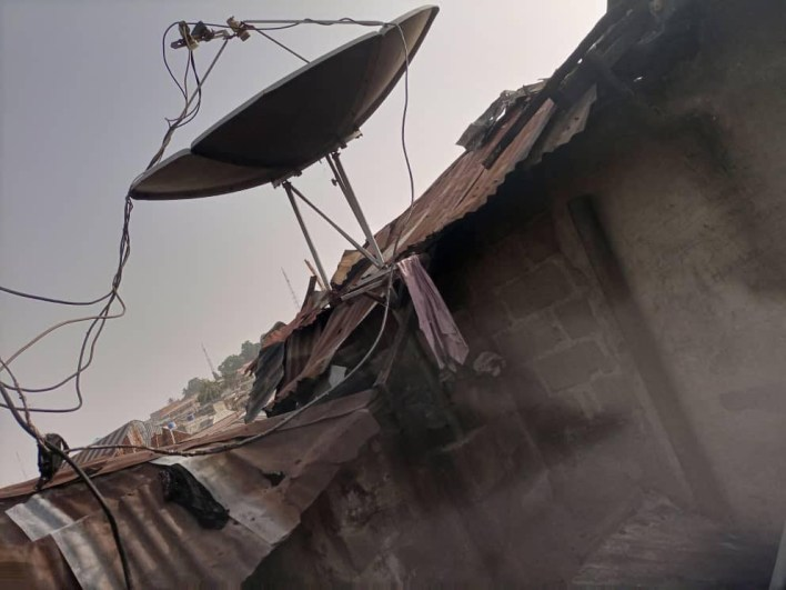 PHOTOS: Fire engulfs house, burns two children to death in Niger
