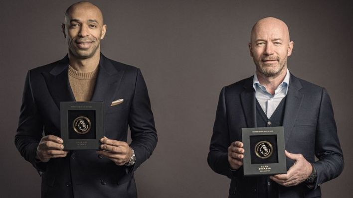 Henry, Shearer inducted into Premier League Hall of Fame