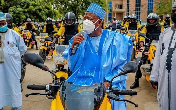 Gov Ganduje inaugurates 25 power bikes for traffic control