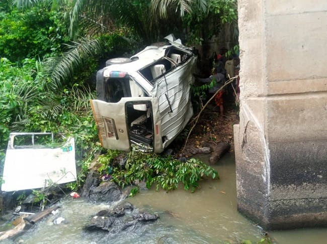 Newly wed man, four others die as bus plunges into river in Ondo