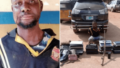 One suspect arrested as police officers engage armed robbers in gun battle in Ogun