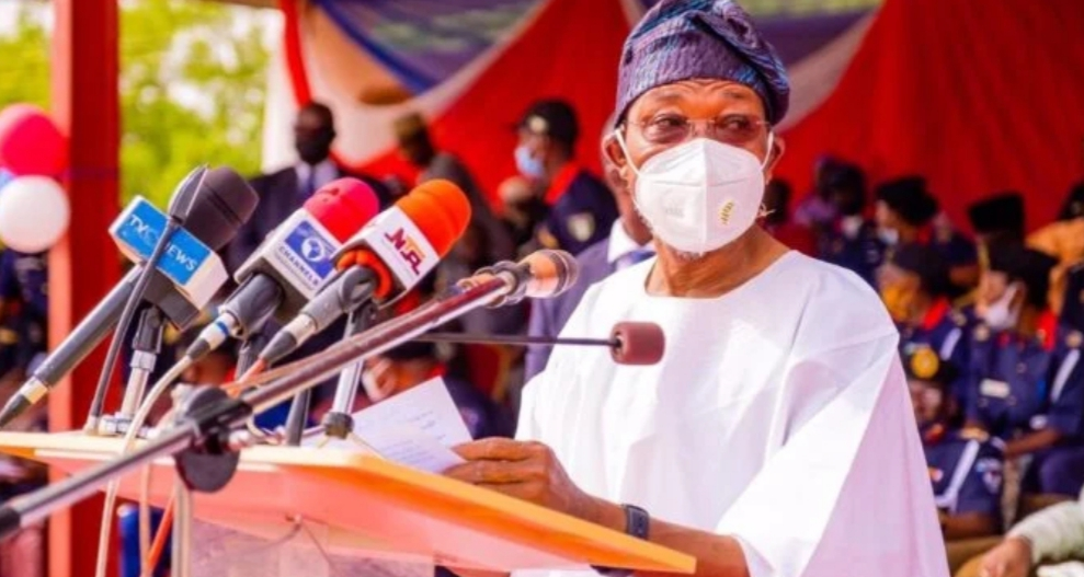 Do not lose your guard because you are at war with invincible enemies, Aregbesola tells NSCDC