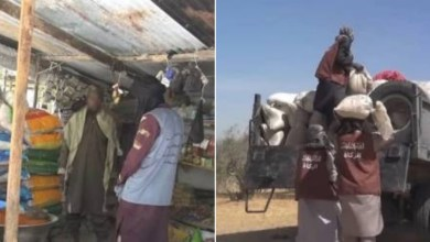 PHOTOS: Boko Haram members distribute Ramadan packages and cash to residents of Borno and Yobe state