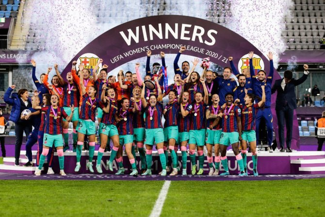 PHOTOS: Oshoala Makes History As Barcelona Win Women's Champions League