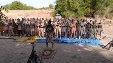 Photos: Boko Haram terrorists dare Nigerian Army, openly observe Eid-el-Fitr prayer