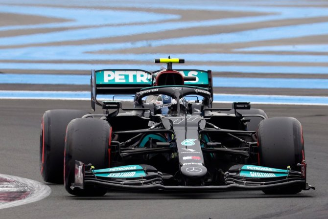 Valtteri Bottas during practice in the French GP