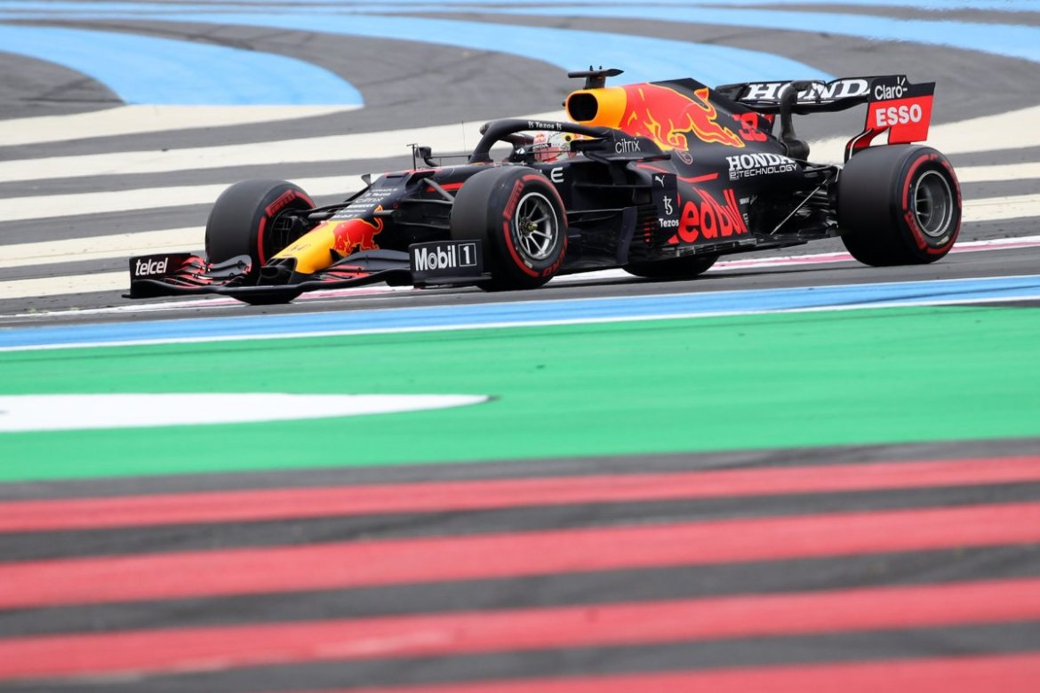 Max Verstappen during qualifying at France