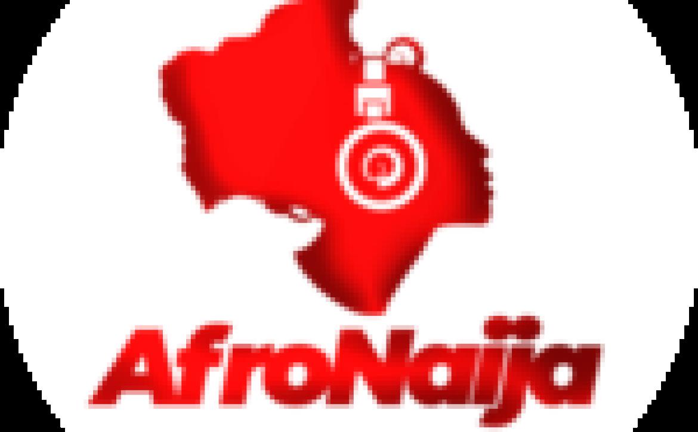 Red Bull's Max Verstappen defending against Mercedes duo