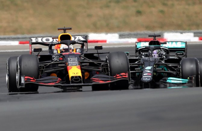 Max Verstappen, Lewis Hamilton and Valtteri Bottas